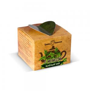 Чай зеленый с мелиссой,