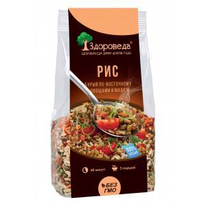 Рис бурый по-восточному с машем и овощами,