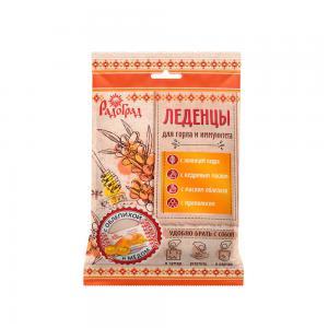 Леденцы живичные «Радоград» с облепихой и мёдом в саше-пакете (10 шт)