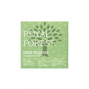 Шоколад веганский из обжаренного кэроба, ROYAL FOREST (75 г)