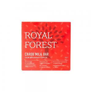 Шоколад молочный из обжаренного кэроба, ROYAL FOREST (75 г)