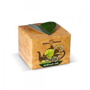 Чай зеленый с липой,