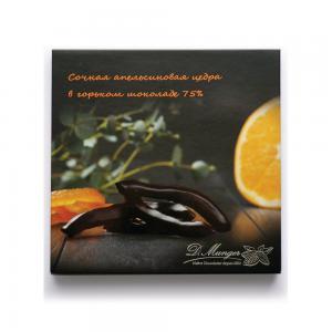Цедра апельсина в горьком шоколаде 75%, D. Munger (110 г)