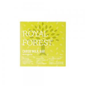 Шоколад из кэроба с миндалем, ROYAL FOREST (75 г)