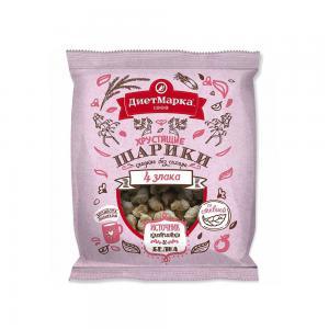 Хрустящие шарики 4 злака сладкие без сахара, ДиетМарка (75 г)