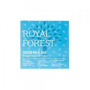 Шоколад из кэроба с ягодой годжи и изюмом, ROYAL FOREST (75 г)