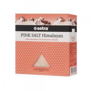 Соль розовая гималайская пищевая мелкая, SETRA (500 г)