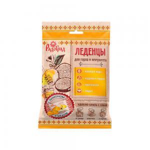 Леденцы живичные «Радоград» с лимоном и медом в саше-пакете (10 шт)