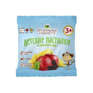 Пастилки детские из фруктового пюре без сахара, Правильные сладости (70 г)